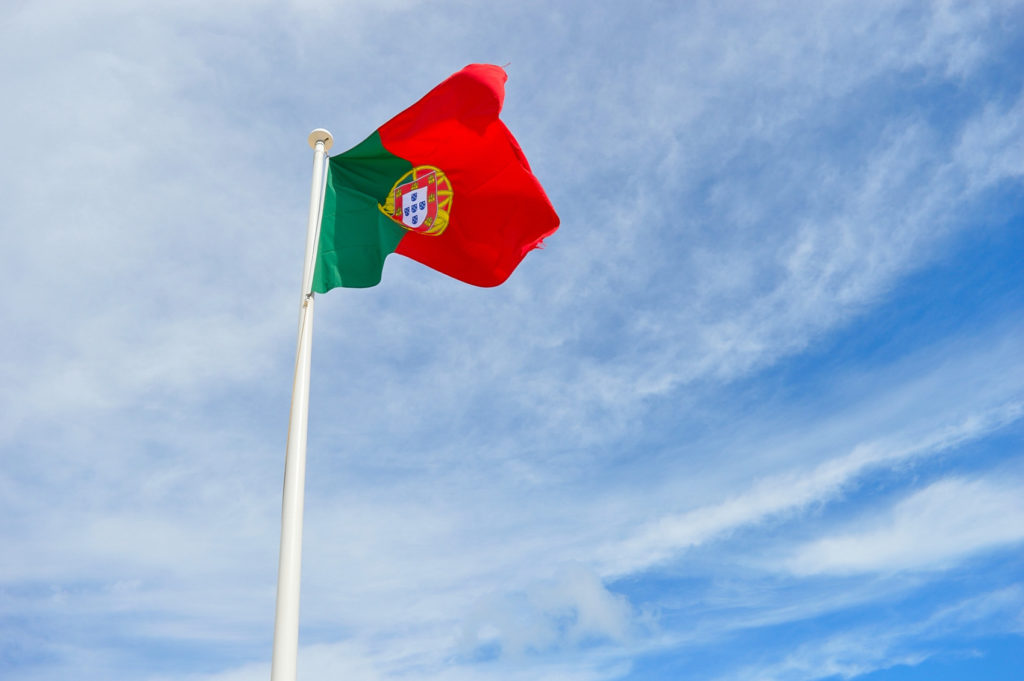 A flag in Fortaleza de Sagres