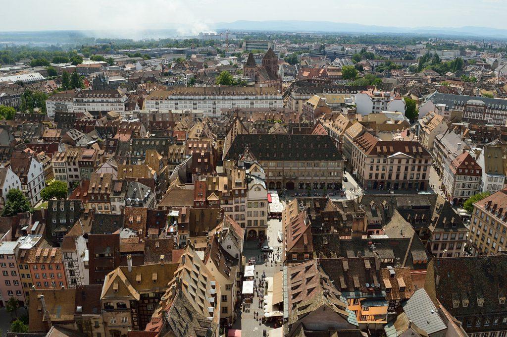 Jeden dzień w Strasburgu: Taras widokowy na katedrze