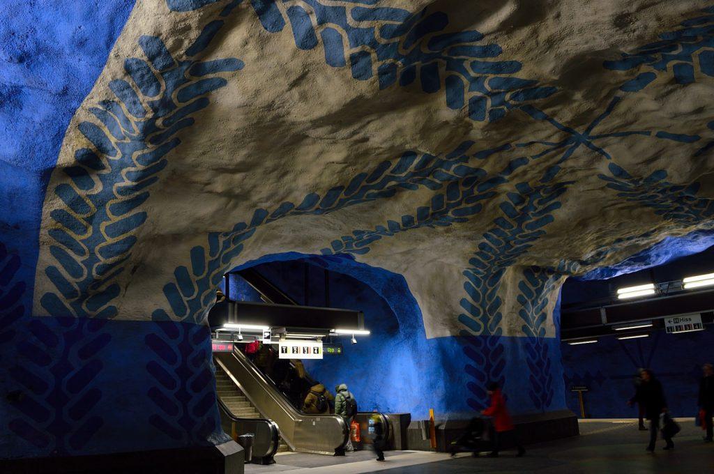 Weekend w Sztokholmie: stacja metra T-Centralen