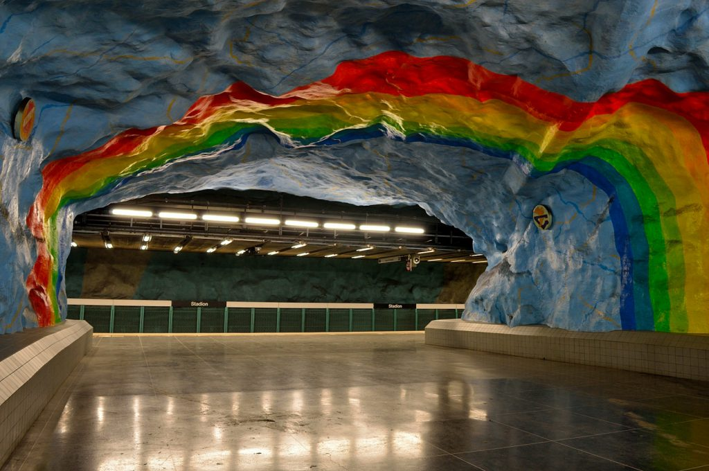 Weekend w Sztokholmie: stacja metra Stadion