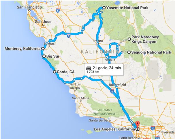 map california dream