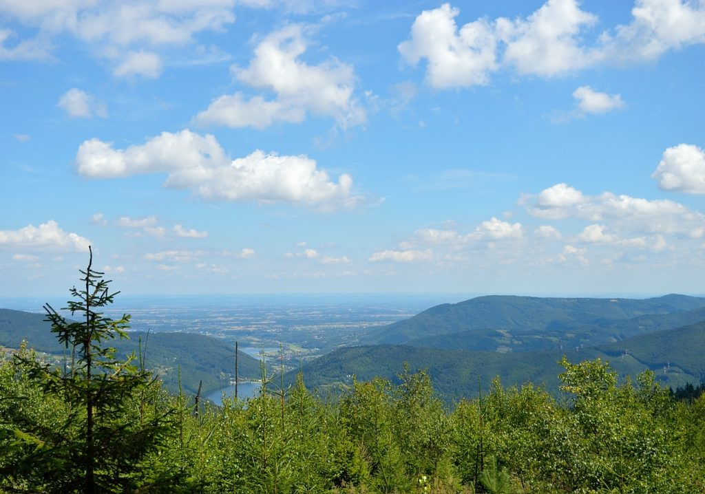 a view from the red trail to Czupel