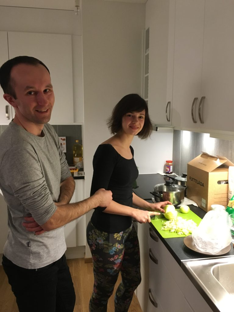 Couchsurfing - cooking together