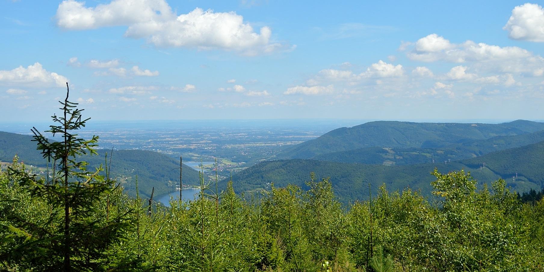 Widok na jezioro Żywieckie
