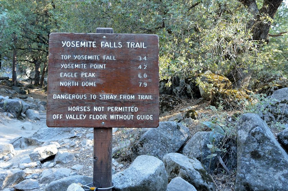 Yosemite Falls trailhead