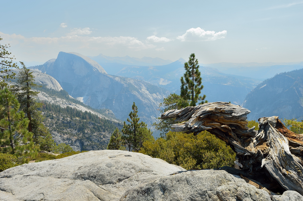 Half Dome. A view from Yosemite Point.