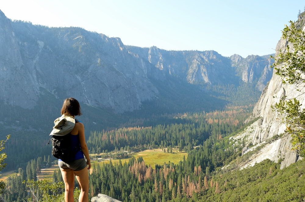 Yosemite Falls trail - views!