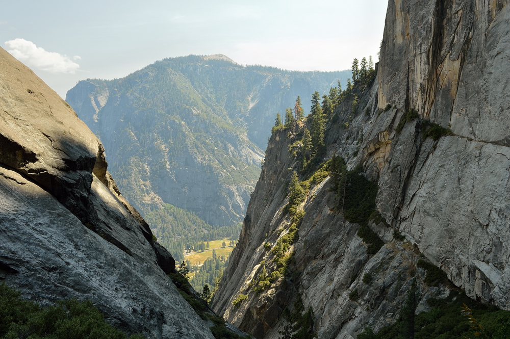 View from Yosemite Falls trail.
