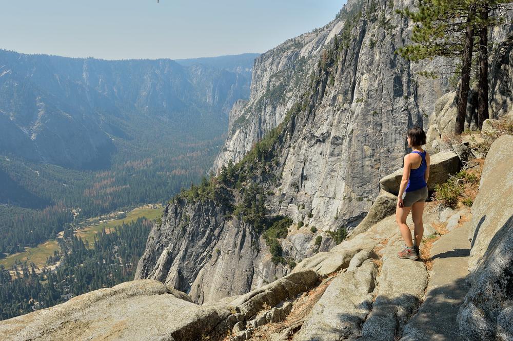Viewing platform at the top of Yosemite Falls