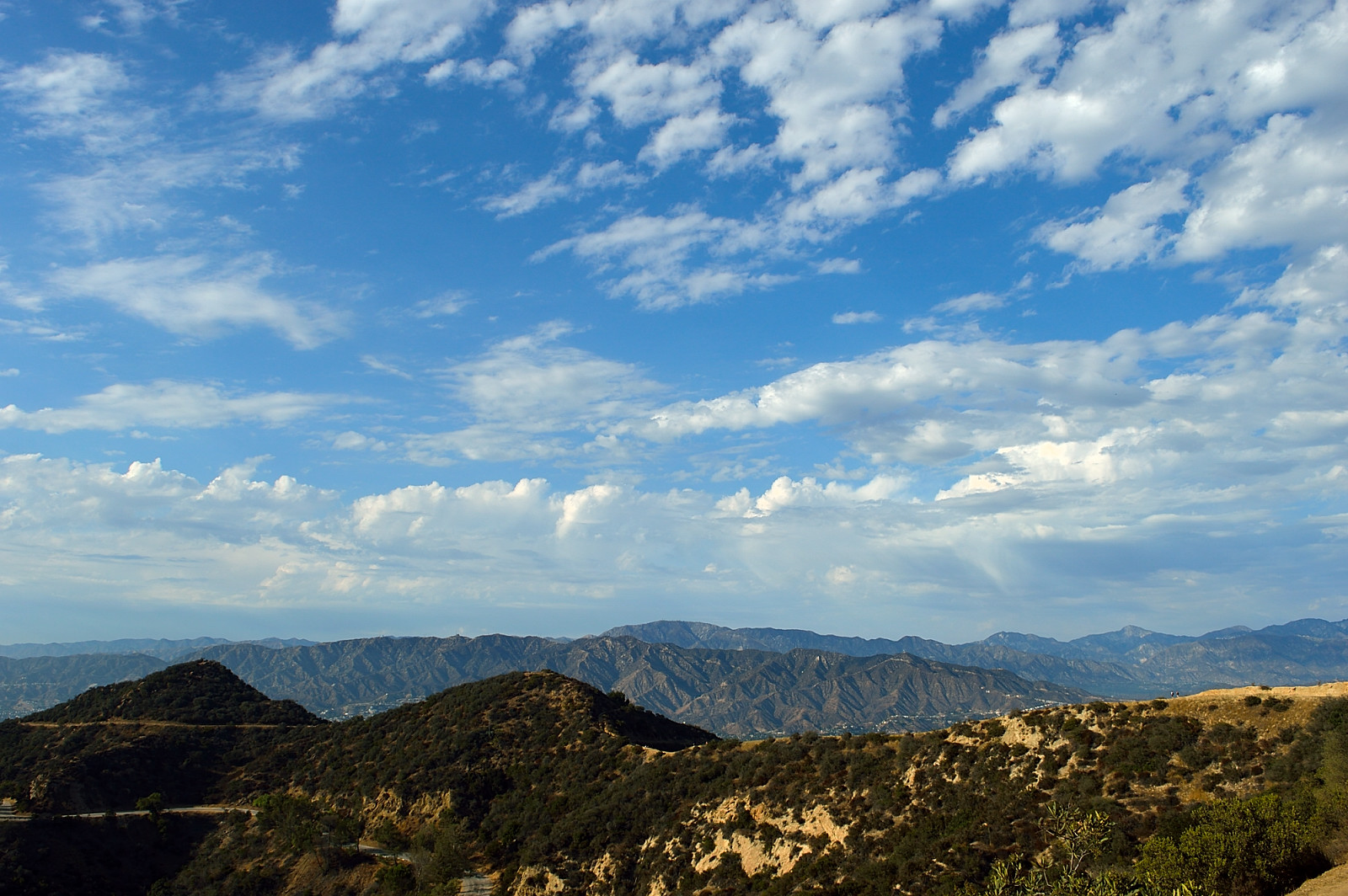 On our way to the Hollywood sign - view at the mountains