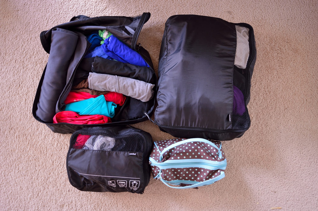how to pack for a trip - packing cubes