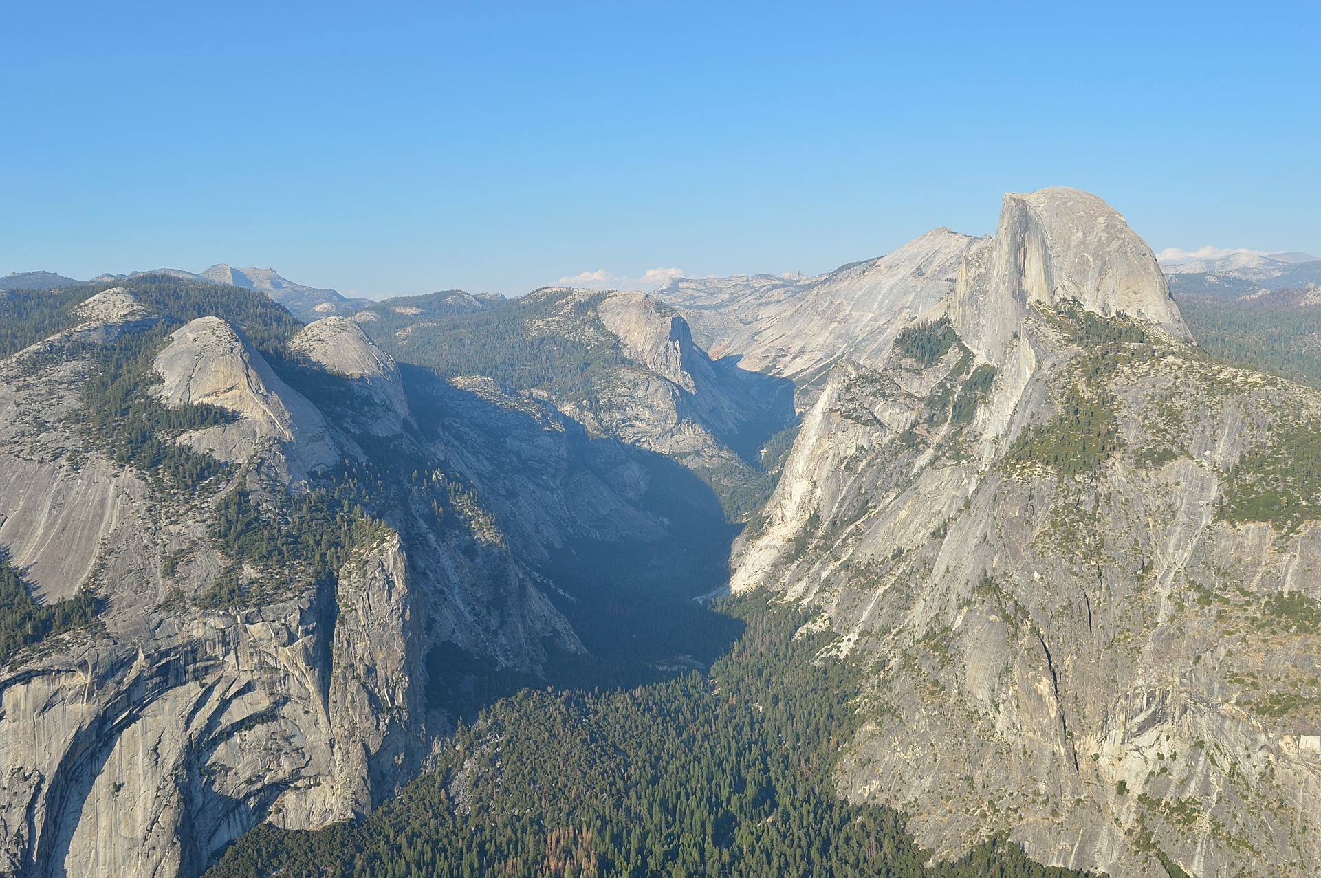 View from Glacier Point at Half Dome and Yosemite Valley