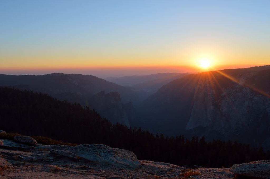 Sunset on Sentinel Dome