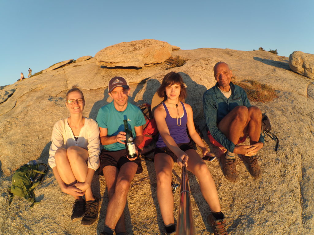 Well deserved rest on Sentinel Dome :)