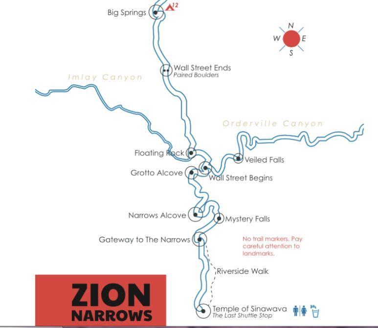 the narrows - mapa