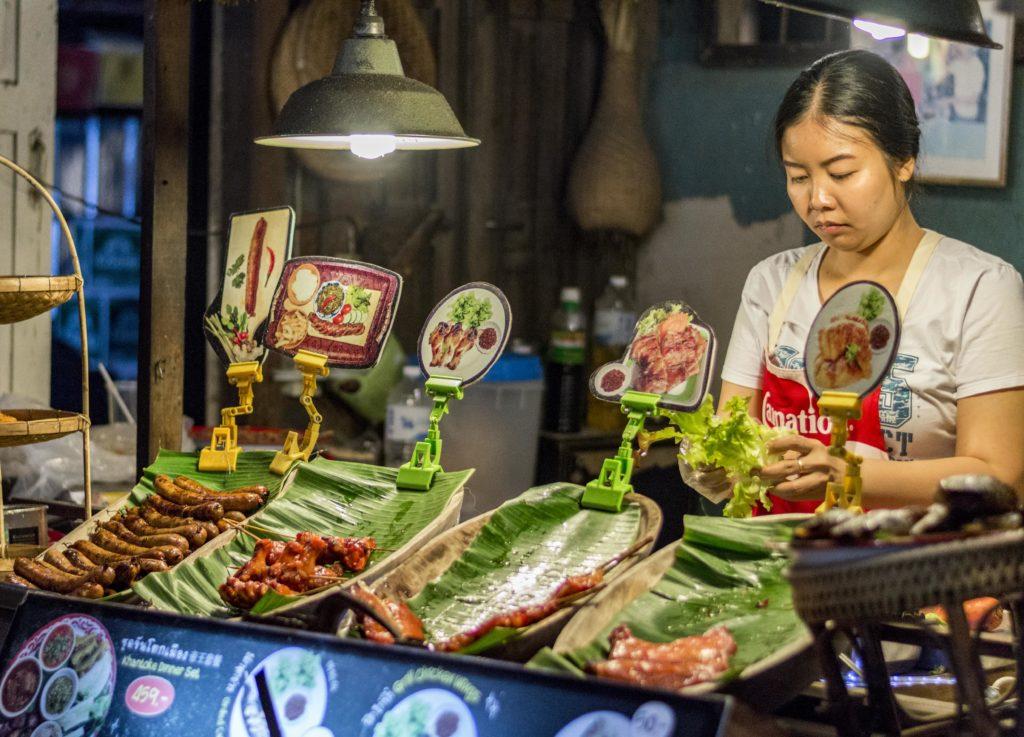 life in Thailand - night market
