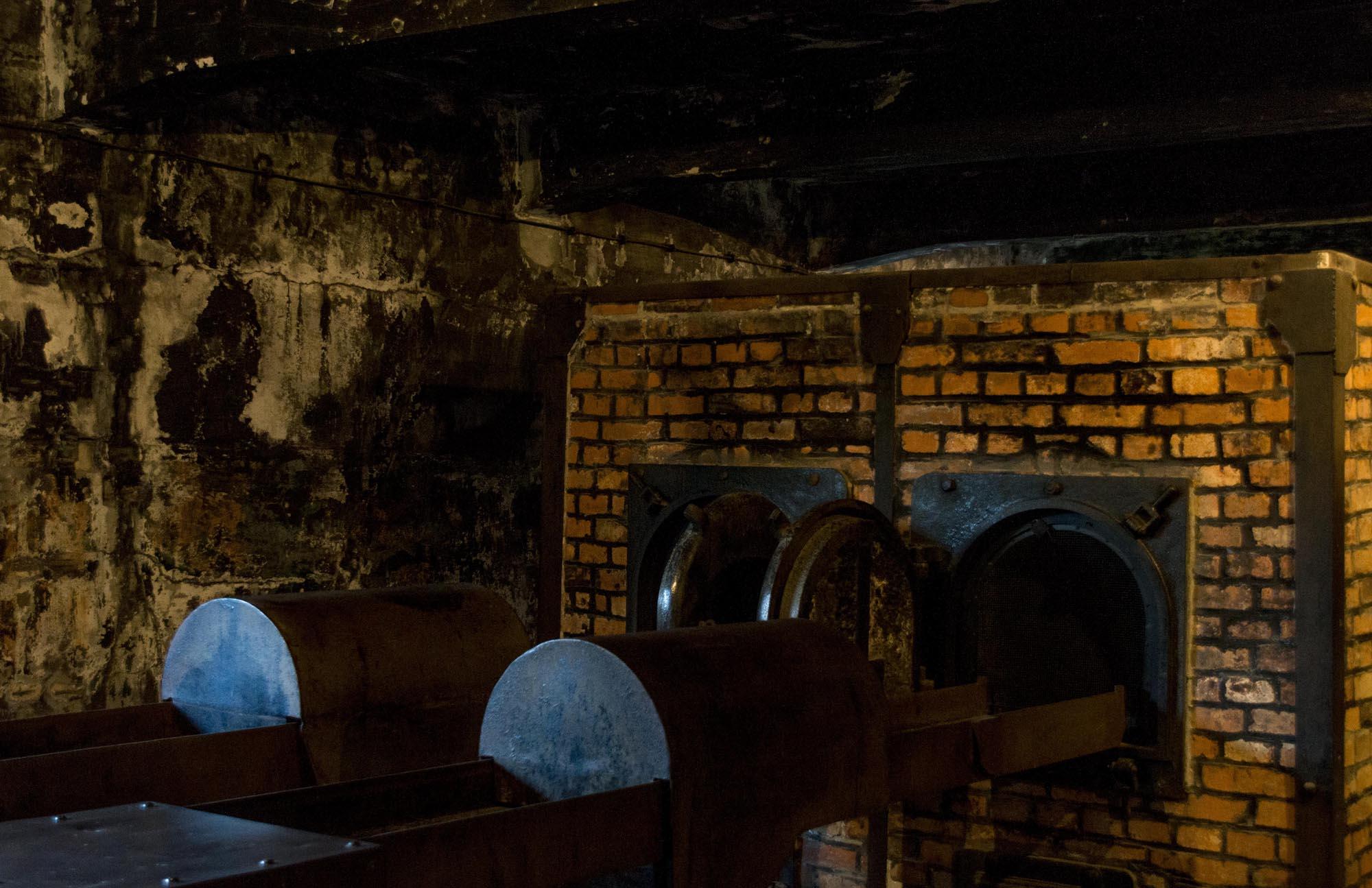 Visiting Auschwitz - crematoria
