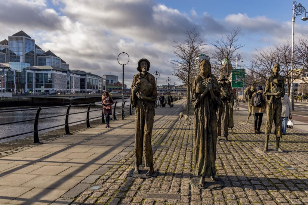 Dublin attractions - Famine Memorial