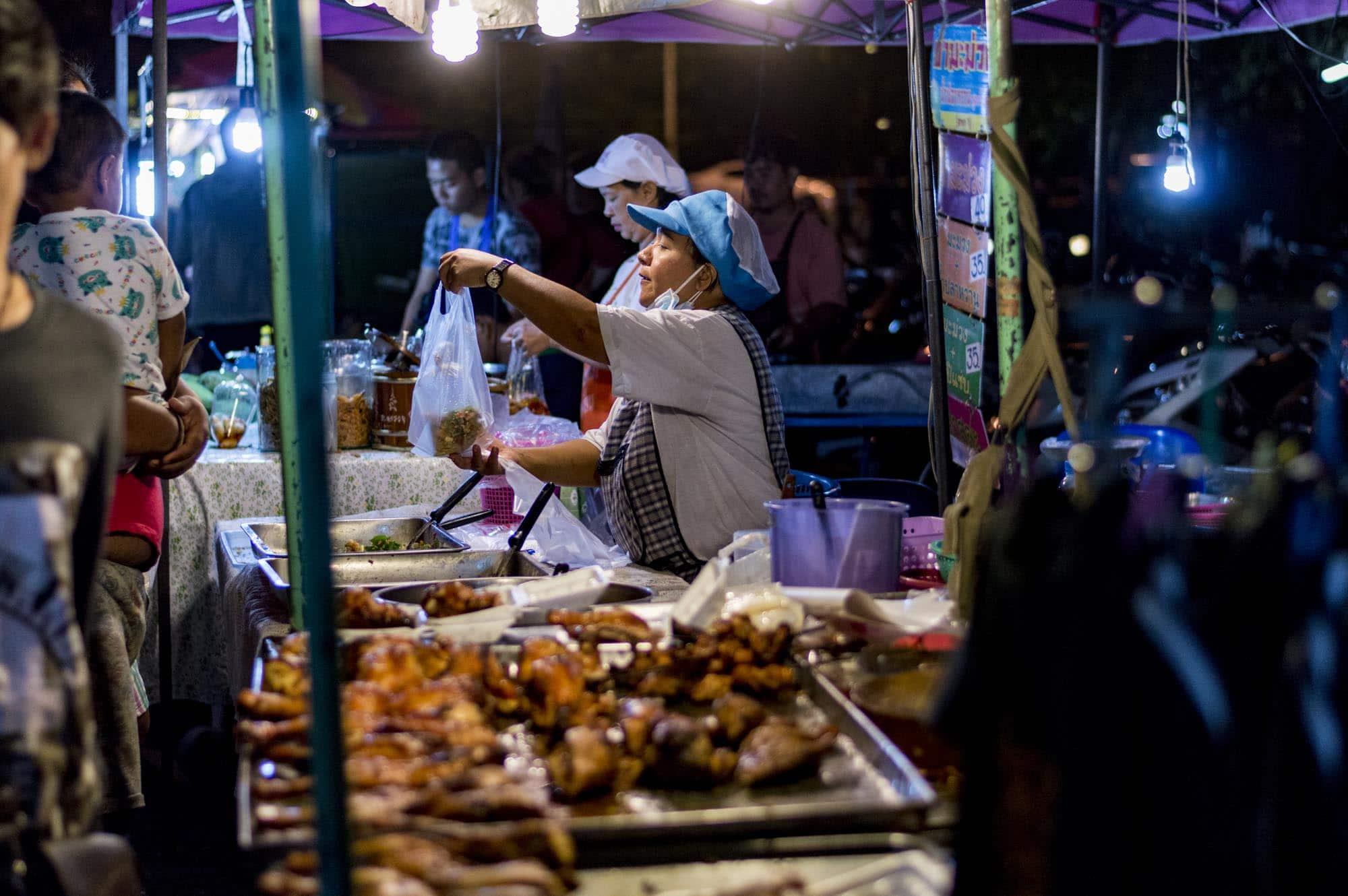 Ayutthaya nocny targ Bang Lan