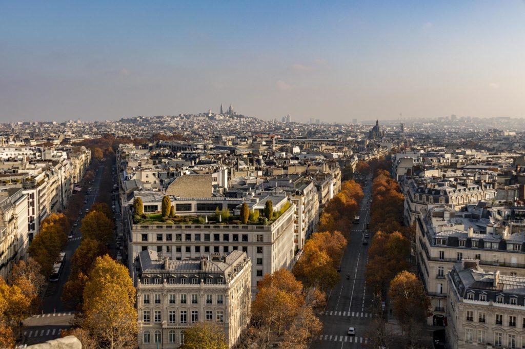 weekend w Paryżu: widok z łuku triumfalnego