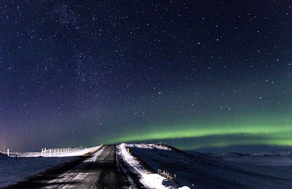 zorza polarna Islandia