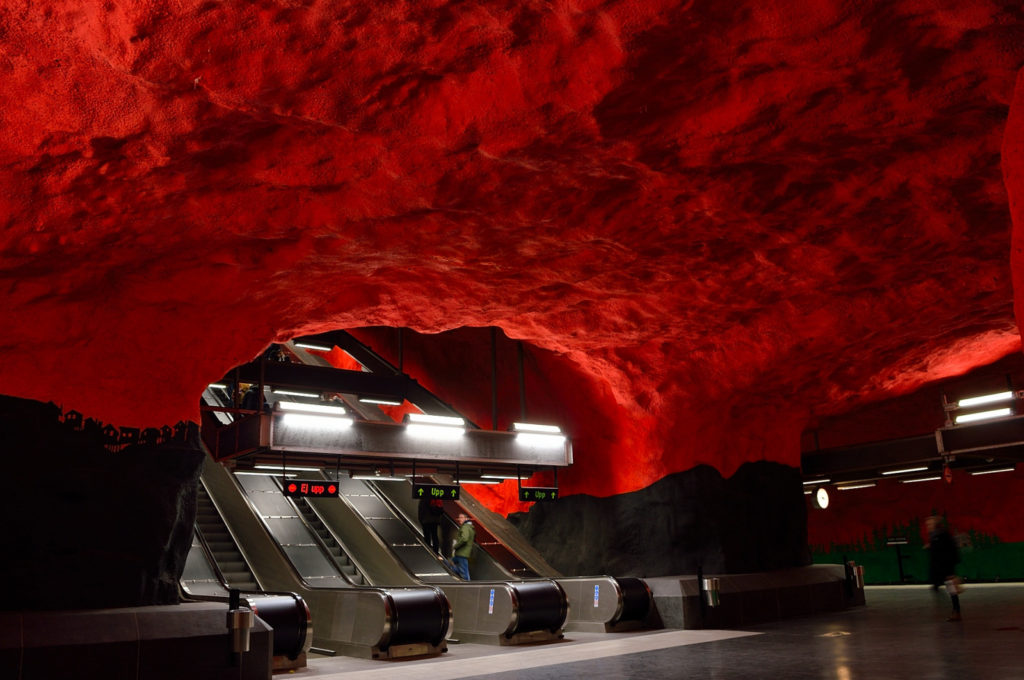 Things to do in Stockholm in winter: Metro, Solna Centrum