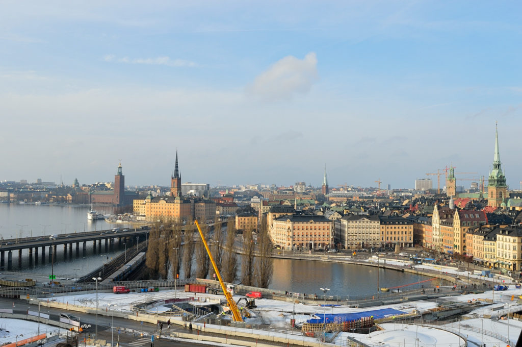 Things to do in Stockholm in winter: view from Katarina lift