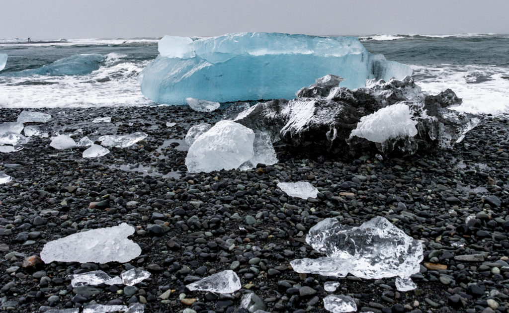 Islandia atrakcje: Diamond Beach