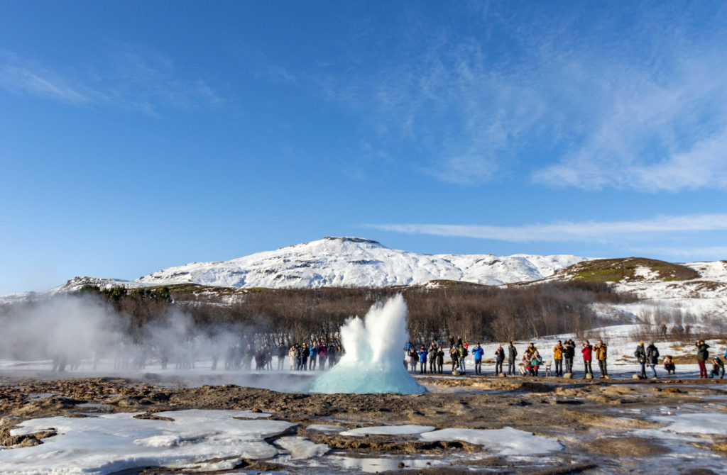 Iceland attractions: Geysir and Strokkur