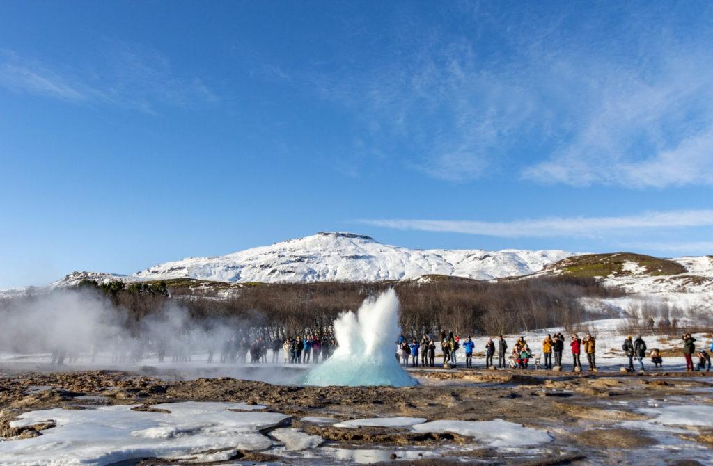 Islandia atrakcje: Geysir, gejzer Strokkur