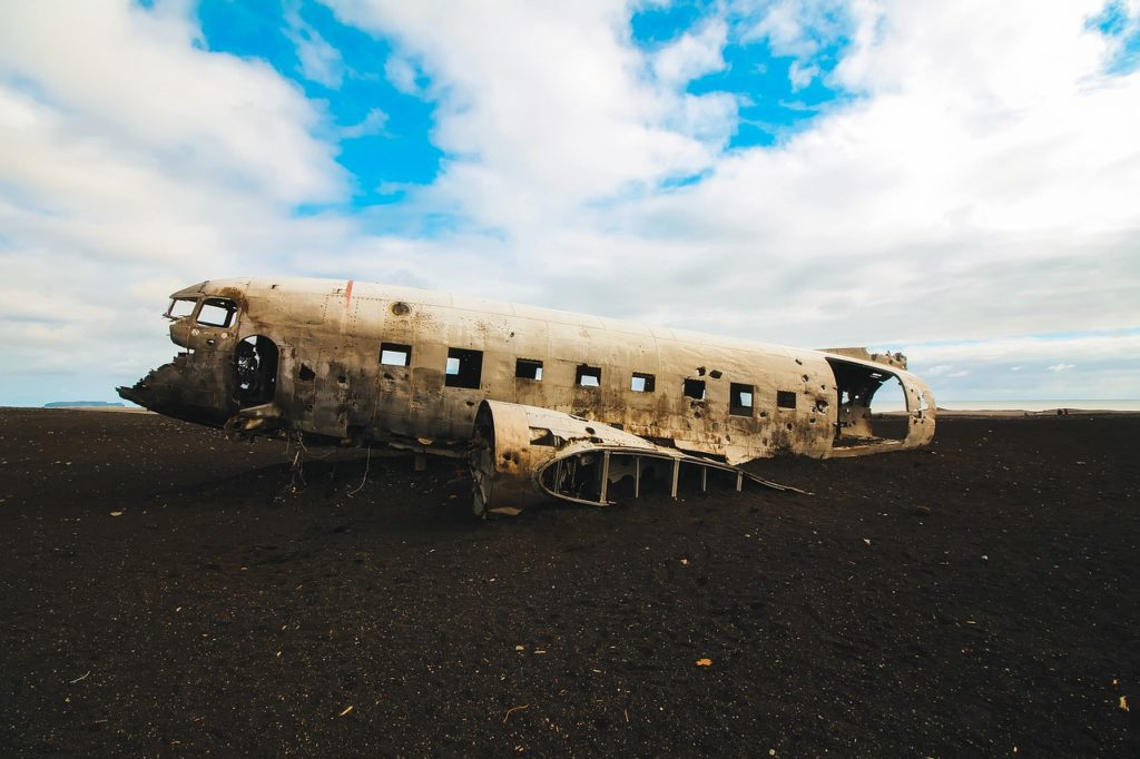 Iceland attractions: plane wreck