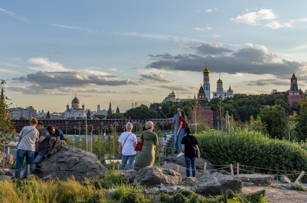 Moskwa atrakcje - park Zaryadie