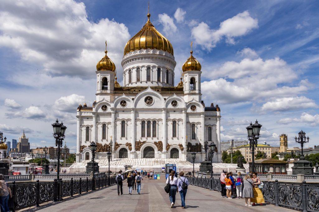 Moskwa zabytki - sobór Chrystusa Zbawiciela