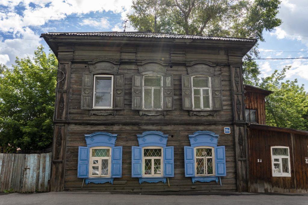 Irkutsk wooden houses